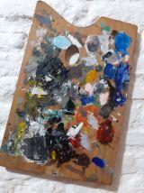 Palette de peintre 1950.