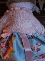 ourson vintage shabbychic, romantique, poupée habillé