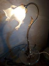 grande lampe de bureau  avec tulipe de forme libre opaque 19