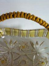 Coupe vintage en verre moulé