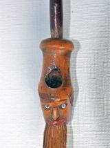 Pipe en bois du 19e figurant une tête d'homme