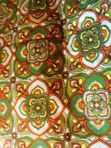 Lot 2 coupons coton vintage anglais 1973 pour confection