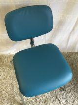 Chaise STRAFOR steelcase bleu – années 70