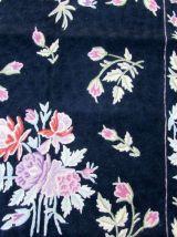 Tapis vintage Tissage plat Indian Stitch fait main, 1Q0339
