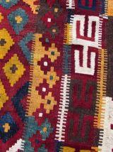 Tapis vintage Afghan surdimensionné fait main, 1Q0343