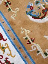 Tapis vintage Chinois Art Deco fait main, 1C429