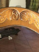 Miroir d'entrée support bois