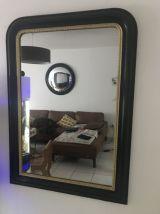 Très grand miroir xl louis noir et doré miroir mercure