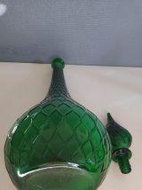 grande carafe verte avec bouchon goutte d'eau