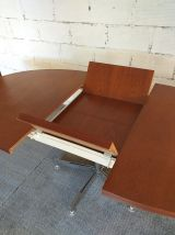 Table à manger ovale design Georges frydman années 60 teck v