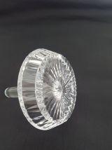 Support de bagues vintage  en verre cristal Cyrano