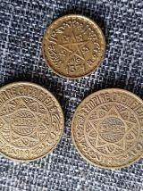 3 Monnaies marocaine pièces 1365 / 1371
