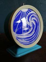 """Cadre déco, cadre réveil Océan """"Bleu Bleu électrique"""""""