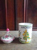 Pot en céramique Hachisch - Peint à la main