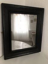 Miroir ancien patiné noir