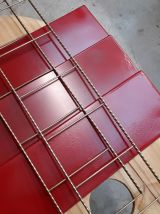 Etagere metal string( tomado) 1950 a 1960  or et rouge vif,