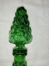 "Carafe italienne  verre motif ""goutte"""