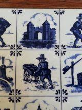 Plateau de service carreaux en faience décor Hollande Delft?