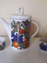 Service thé ou café en porcelaine Acapulco