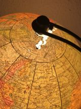 Globe terrestre vintage 1960 verre Perrina - 29 cm