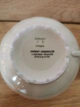 2 x tasses et soucoupes porcelaine Jammet Seignolles