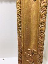 Grand cadre doré fleuri du 19 eme siecle