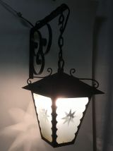Applique lanterne et sa potence – années 50