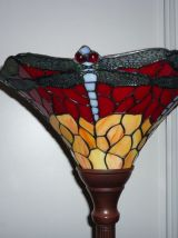 lampadaire Tiffany libellules style art nouveau