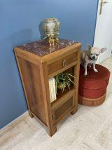 Table de chevet Art Déco  bois & marbre