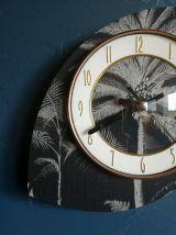 """Horloge vintage, pendule murale """"Bayard Palmiers"""""""