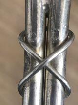 Double porte bouteilles en métal argenté