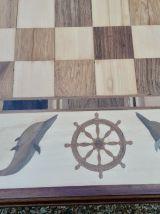 Table à jeu marquetée