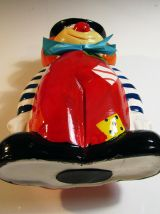 Tirelire clown en céramique