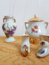 LOT Minatures en porcelaine de Limoges