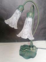 Lampe style art déco deux tulipes