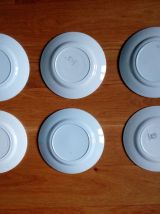 Assiettes plates dépareillées ensemble de 6