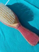 nécessaire de coiffeuse velours rose vintage