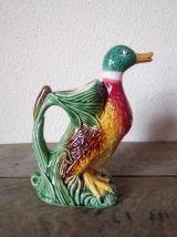 Pichet canard en céramique