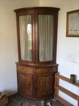 Encoignure meuble vitrine d'angle époque Empire