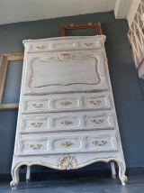 Secrétaire royal style Louis XV patiné