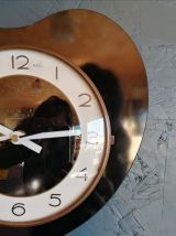 """Horloge vintage, pendule murale """"Noire et Blanche"""""""