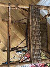 Fauteuil rotin et bambou année 70