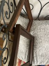 Paire Miroirs anciens bois massif