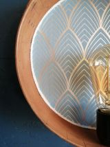 """Applique vintage, lampe murale  Tamis """"Bleu Argent"""""""