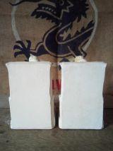 Ancien serre-livres en plâtre (moines)