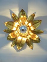 Applique ou plafonnier fleur dorée