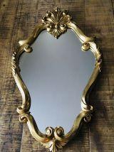 Miroir ancien bois doré style Louis XV