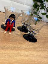 Set de 3 verres taillés art-déco
