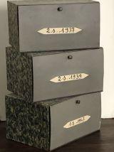 Ancienne boite d'archives de cartonnier
