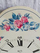 Horloge Jaz vintage en métal peint